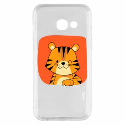 Чехол для Samsung A3 2017 Striped tiger with smile