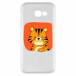 Чехол для Samsung A5 2017 Striped tiger with smile
