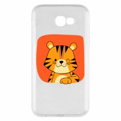 Чехол для Samsung A7 2017 Striped tiger with smile