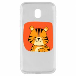 Чехол для Samsung J3 2017 Striped tiger with smile