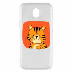 Чехол для Samsung J5 2017 Striped tiger with smile