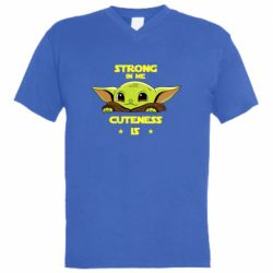 Мужская футболка  с V-образным вырезом Strong in me