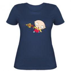 Женская футболка Стьюи с бластером - FatLine