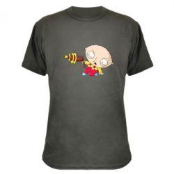 Камуфляжная футболка Стьюи с бластером - FatLine