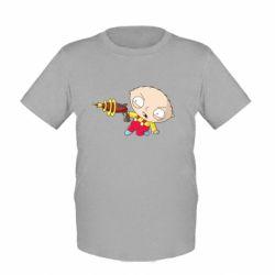 Детская футболка Стьюи с бластером
