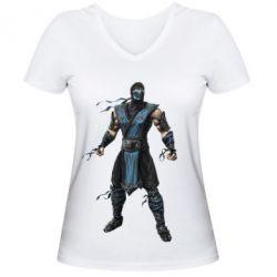 Женская футболка с V-образным вырезом Sub-Zero
