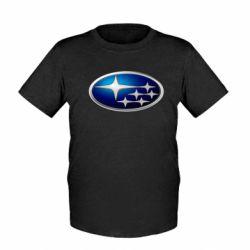Детская футболка Subaru 3D Logo - FatLine
