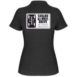 Женская футболка поло Subaru All-Wheel - FatLine