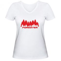 Жіноча футболка з V-подібним вирізом Subaru Forester