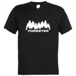 Чоловіча футболка з V-подібним вирізом Subaru Forester