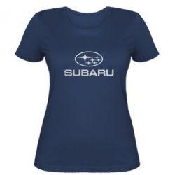 Женская футболка Subaru  Голограмма