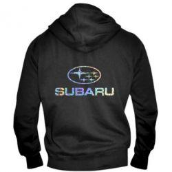 Мужская толстовка на молнии Subaru  Голограмма