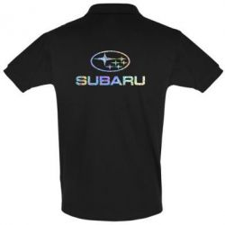 Футболка Поло Subaru  Голограмма