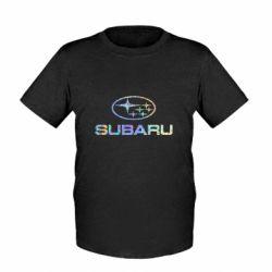 Детская футболка Subaru  Голограмма