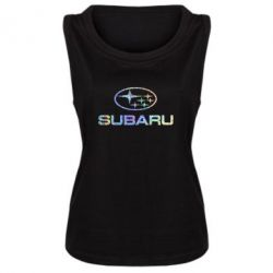Женская майка Subaru  Голограмма
