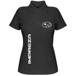 Женская футболка поло Subaru Impreza - FatLine