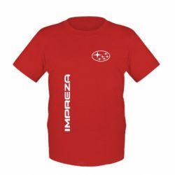 Детская футболка Subaru Impreza - FatLine