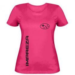 Женская футболка Subaru Impreza - FatLine