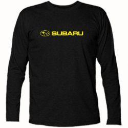 Футболка с длинным рукавом Subaru logo - FatLine