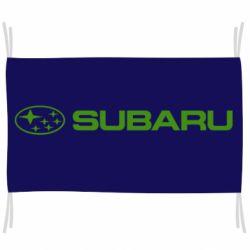Флаг Subaru logo
