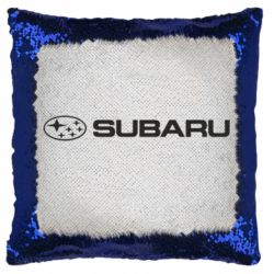 Подушка-хамелеон Subaru logo