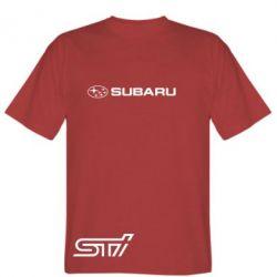 Мужская футболка Subaru STI лого - FatLine