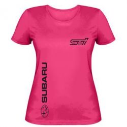 Женская футболка Subaru STI Logo