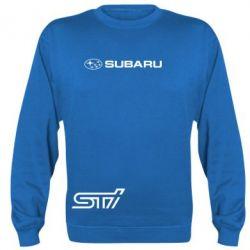 Реглан (свитшот) Subaru STI лого - FatLine