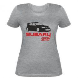 Женская футболка Subaru STI - FatLine