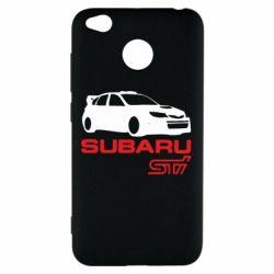 Чехол для Xiaomi Redmi 4x Subaru STI