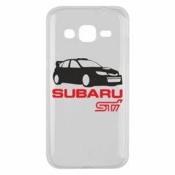 Чехол для Samsung J2 2015 Subaru STI