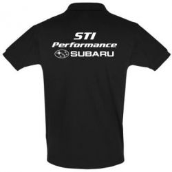 Мужская футболка поло Subaru STI
