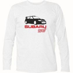 Футболка с длинным рукавом Subaru STI - FatLine