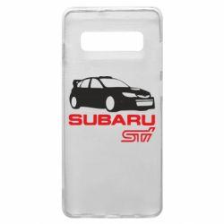 Чехол для Samsung S10+ Subaru STI