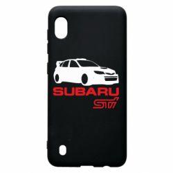 Чехол для Samsung A10 Subaru STI