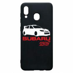 Чехол для Samsung A20 Subaru STI