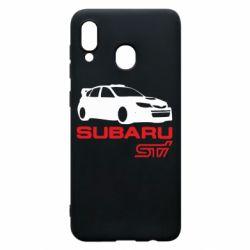 Чехол для Samsung A30 Subaru STI