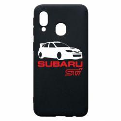 Чехол для Samsung A40 Subaru STI