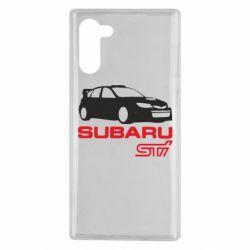 Чехол для Samsung Note 10 Subaru STI