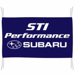 Флаг Subaru STI