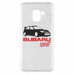 Чехол для Samsung A8 2018 Subaru STI