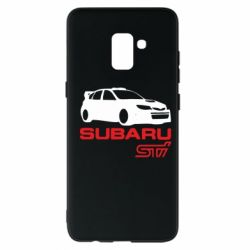 Чехол для Samsung A8+ 2018 Subaru STI