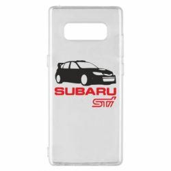 Чехол для Samsung Note 8 Subaru STI