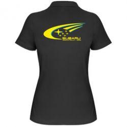 Женская футболка поло Subaru WRT - FatLine