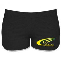 Женские шорты Subaru WRT - FatLine