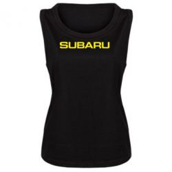 Женская майка Subaru - FatLine