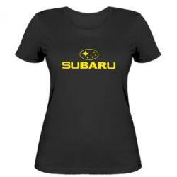 Женская футболка Subaru - FatLine