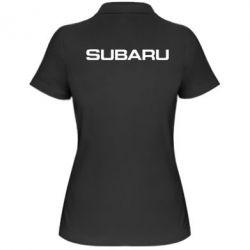 Жіноча футболка поло Subaru