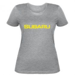 Жіноча футболка Subaru