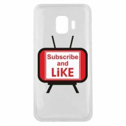 Чохол для Samsung J2 Core Subscribe and like youtube